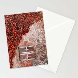 Red Ivy Wall Stationery Cards