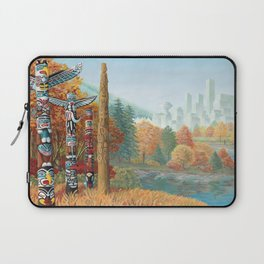 Vancouver Two Worlds Collide Landscape Painting Laptop Sleeve