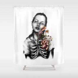 Heartbeats // Illustration Shower Curtain