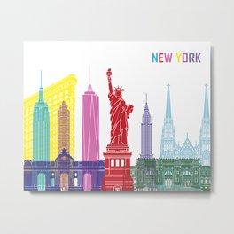New York skyline pop Metal Print