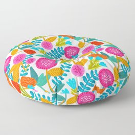 Colorful Floral Pattern Floor Pillow