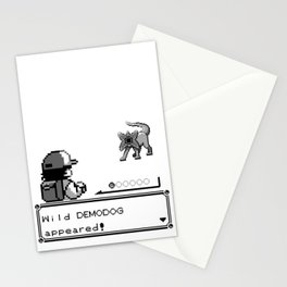 Pokémon / Stranger Thing demodog appeared Stationery Cards