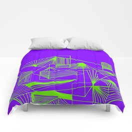 Polygon collection - green Comforters