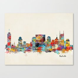 music city tennessee skyline Canvas Print