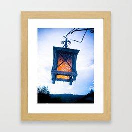 INTENSE BLUE LIGHT Framed Art Print