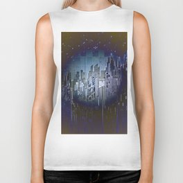 Walls in the Night - UFOs in the Sky Biker Tank