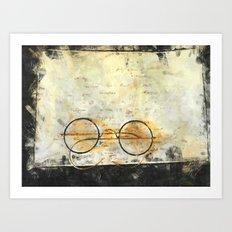 Father's Glasses Art Print