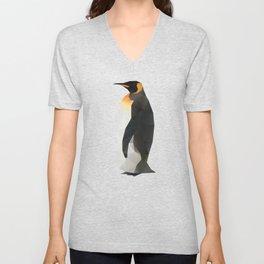 King Penguin Polygon art Unisex V-Neck
