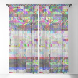 Accidentally Glitched Sheer Curtain