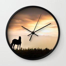 Wild Horse sunset Wall Clock