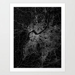 Louisville map Art Print