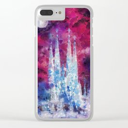Barcelona Night Clear iPhone Case