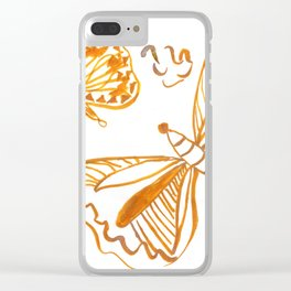 Golden Butterfly Clear iPhone Case