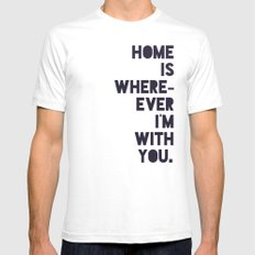 With You SMALL White Mens Fitted Tee