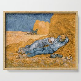 Van Gogh - Noon, Rest from Work (after Millet) Serving Tray