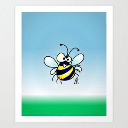 Bumbling Bee Art Print