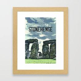 Stonehenge, England / Vintage style poster Framed Art Print