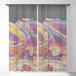 UP IN FLAMES Sheer Curtain