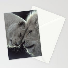 White Lion Love Stationery Cards