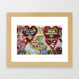 Fairground hearts Framed Art Print