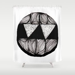Monster With Fangs Shower Curtain