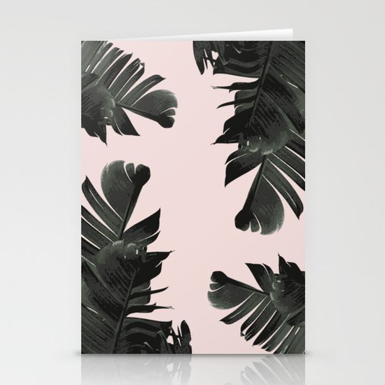 Tropical palm spring Stationery Cards