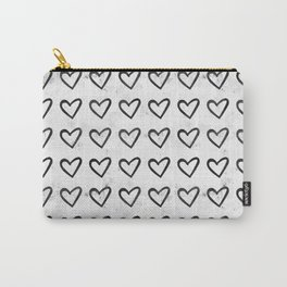 Big Heart Ink Pattern Carry-All Pouch