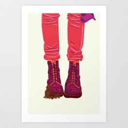 """From """"Tuesday 13"""" Bad Luck Series: Dirty boots Art Print"""