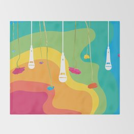 Rainbow Daydreaming Throw Blanket