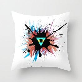 Reverse Illuminati Throw Pillow