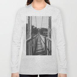 Black and White Bridge - Kauai, Hawaii Long Sleeve T-shirt