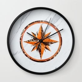 Wind rose ~ Inlaid marble Wall Clock