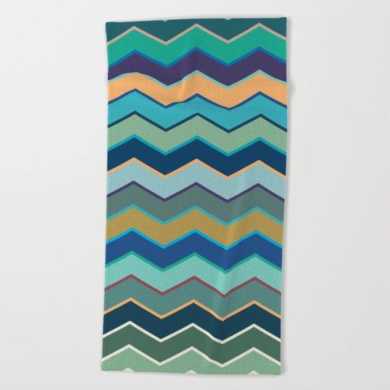 Colorful Wave II Beach Towel