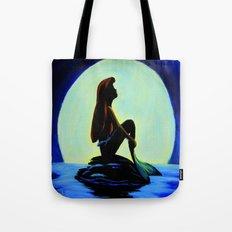 Mermaid in the moonlight Tote Bag