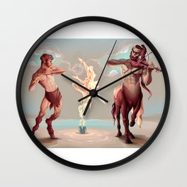 Evocation of the spirit of the music Wall Clock