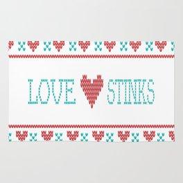 Love Stinks Cross Stitch Rug