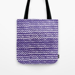 Abstract violet white watercolor geometrical chevron zigzag Tote Bag