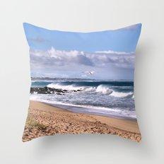 Bashams Beach Throw Pillow