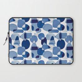 Blue Watercolour Geometric Laptop Sleeve