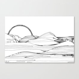 Neutral Susnset Canvas Print
