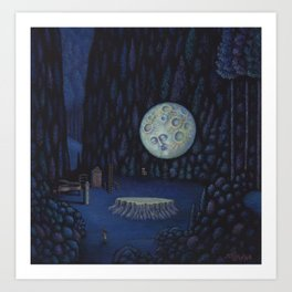 The Forest Moon Art Print