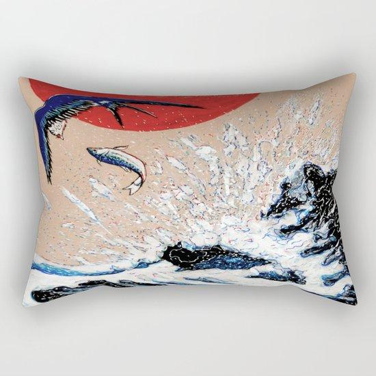 Japan Wave  Rectangular Pillow