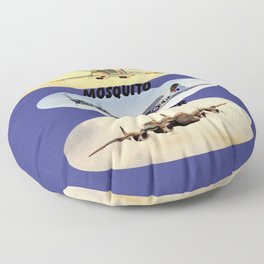 Spitfire Mosquito Lancaster Montage Floor Pillow