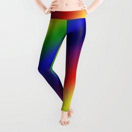 Diagonal Dark Rainbow Gradient Leggings