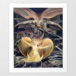 William Blake The Great Red Dragon and the Woman Clothed with the Sun Art Print