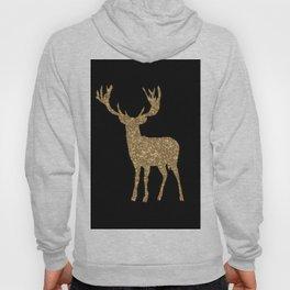 Sparkling golden deer - Wild Animal Animals Hoody