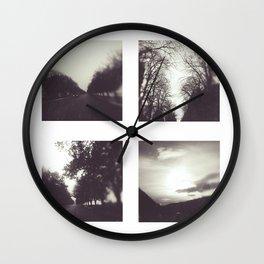 Roads I Wall Clock