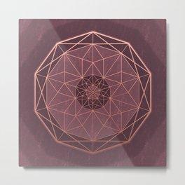 Geodis Magic Rosé Metal Print