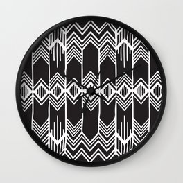 Aztec Pattern No. 16 Wall Clock
