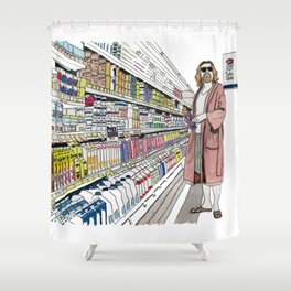 Jeffrey Lebowski and Milk. Shower Curtain